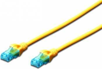Cablu UTP Digitus Cat. 5e 0.5m Galben