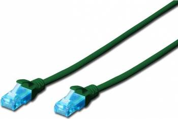 Cablu UTP Digitus Cat. 5e 0.5m Verde
