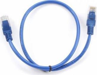 Cablu UTP Gembird cat. 5E 0.5m Albastru Cabluri Retea
