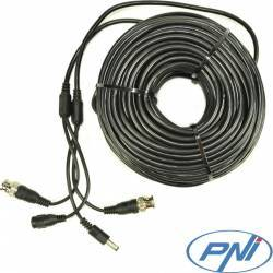 Cablu video si alimentare PNI CCTV 40M Accesorii Camere Supraveghere