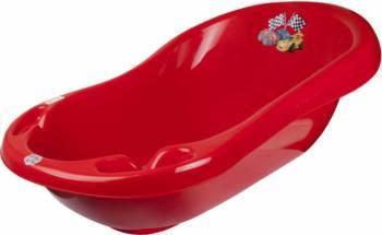 Cadita De Baie Bebe Cu Termometru MyKids Cars 100 cm Red Cadite, prosoape si accesorii baie