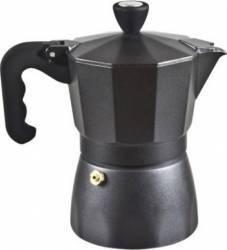 Cafetiera aluminiu Beper CA.001 3 cafele Neagra Cafetiere