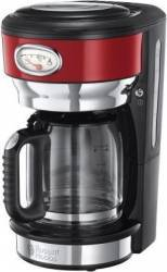Cafetiera Russell Hobbs 21700-56 1000W 1.25L Oprire automata Sistem anti-picurare Rosu Cafetiere