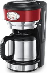 Cafetiera Russell Hobbs 21710-56 1000W 1L Indicator nivel apa Rosu Cafetiere
