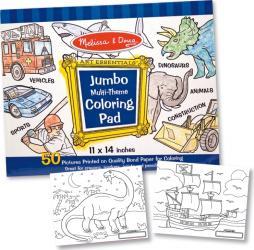 Caiet jumbo cu desene pentru colorat Melissa and Doug Albastru Rechizite