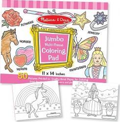 Caiet jumbo cu desene pentru colorat Melissa and Doug Roz Rechizite