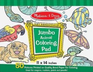Caiet jumbo cu planse pentru colorat Animale Melissa and Doug Rechizite