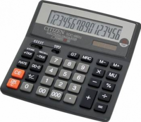 Calculator de birou Citizen SDC660N Black Calculatoare de birou