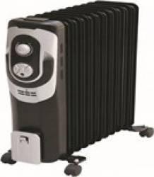 Calorifer Hausberg HB-8920 2500W 11 elementi 3 trepte de putere termostat reglabil Negru Aparate de incalzire