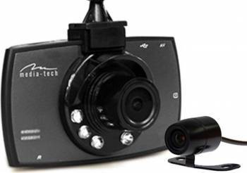 Camera Auto Media-Tech MT4056 DUAL View cu Infrarosu 6LED 1080p Camere Video Auto