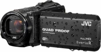 Camera Video JVC Quad-Proof R GZ-R415BEU Full HD Black Camere video digitale