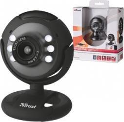 Camera Web Trust Spotlight VGA USB Black Camere Web