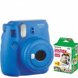 Camera foto instant Fujifilm Instax mini 9 Cobalt Blue cu 20 filme incluse Aparate Foto Film