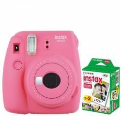 Camera foto instant Fujifilm Instax mini 9 Flamingo Pink cu 20 filme incluse Aparate Foto Film