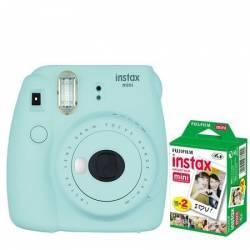 Camera foto instant Fujifilm Instax mini 9 Ice Blue cu 20 filme incluse Aparate Foto Film
