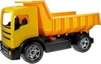 Camion basculanta pentru copii din plastic galbena sustine 100 kg Lena Machete