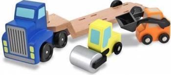Camion transportor cu platforma cu utilaje de constructii Melissa and Doug Machete