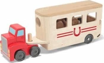 Camion Transportor de Cai cu Remorca Melissa and Doug Machete