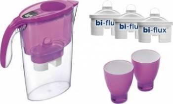 Cana filtranta Laica Fuchsia+3 filtre+2 pahare colorate J947P