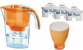 Cana Laica Portocaliu + 3 filtre Bi-flux + pahar de colectie Cani filtrante si Accesorii