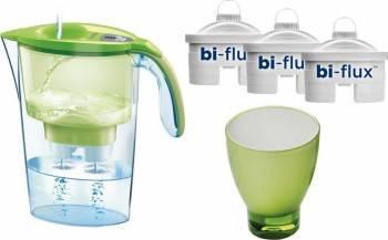 Cana Laica, Verde + 3 filtre Bi-flux + pahar de colectie Cani filtrante si Accesorii