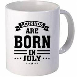 Cana personalizata ceramica 300 ml Legends are born in July Cadouri