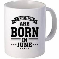 Cana personalizata ceramica 300 ml Legends are born in June Cadouri