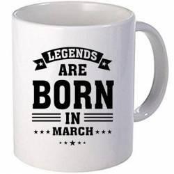 Cana personalizata ceramica 300 ml Legends are born in March Cadouri