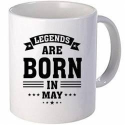 Cana personalizata ceramica 300 ml Legends are born in May Cadouri