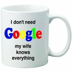 Cana personalizata ceramica 300 ml My wife knows everything Cadouri