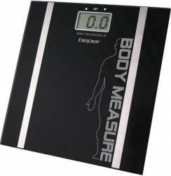 Cantar corporal cu analiza Beper 40.808 150kg LCD Sticla Negru Cantare Personale