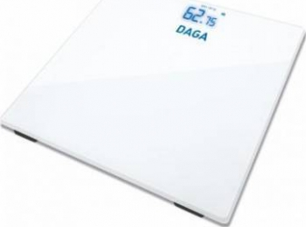 Cantar de baie Daga BS 100 180 kg 50g ecran de afisaj invizibil cu LED XXL autostop Alb Cantare Personale