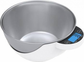Cantar de bucatarie Teesa cu bol 1.8L Max 5kg Alb-argintiu Cantare de Bucatarie