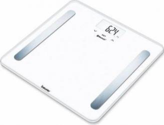 Cantar de diagnostic Beurer 180kg Bluetooth 30 memorii Alb Cantare Personale