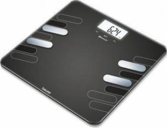 Cantar de diagnostic Beurer 180kg Bluetooth 30 memorii Negru Cantare Personale