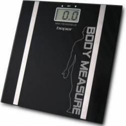 Cantar electronic cu diagnostic Beper 40.808 150kg Afisaj LCD Oprire automata Negru