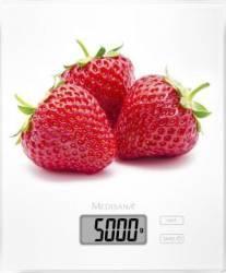 Cantar digital de bucatarie Medisana KS 210 40472 cu model capsuna 1-5kg Alb Cantare de Bucatarie