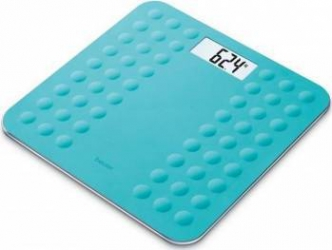 Cantar electronic Beurer GS300 180kg Afisaj LCD Oprire automata Turquoise Cantare Personale