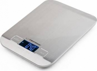 Cantar de bucatarie Esperanza EKS001 5kg Afisaj LCD Argintiu Cantare de Bucatarie
