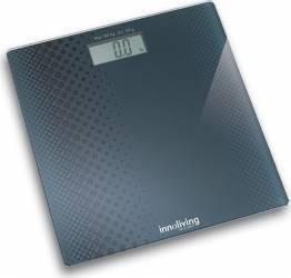 Cantar electronic Innofit INN-101 180 kg Platforma de sticla Negru Cantare Personale