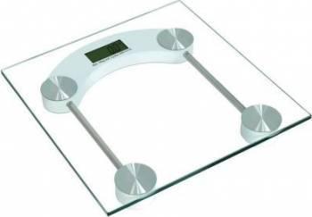 Cantar electronic Victronic 150 kg Platforma de sticla Transparent