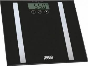 Cantar persoane Teesa Body analyzer Ecran LCD 150kg Negru Cantare Personale