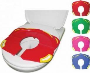 Capac Pliabil Toaleta Primii R0822 Pasi Ultracompact Roz Olite si reductoare WC