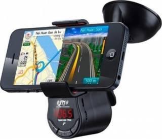 Car Kit Suport Auto OEM Cu Bluetooth Si Transmitator FM USB Negru Car Kit-uri