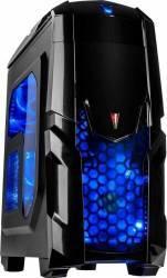 Carcasa Inter-Tech Q2 Illuminator Blue Fara sursa Carcase
