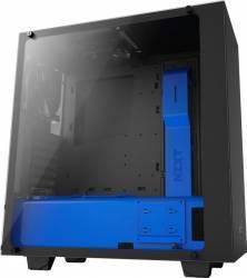 Carcasa NZXT S340 Elite Black Blue Fara sursa Carcase