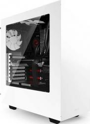 Carcasa NZXT Source 340 Mid Tower Windowed fara sursa White Carcase