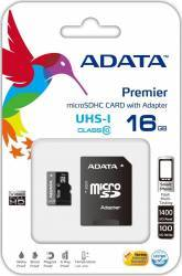 Card de memorie ADATA Premier microSDHC UHS-I U1 16GB Class10+Ad