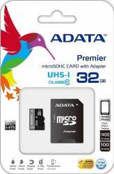 Card de memorie ADATA Premier microSDHC UHS-I U1 32GB Class10+Ad Carduri Memorie
