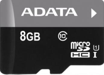 Card de memorie ADATA Premier microSDHC UHS-I U1 8GB Class10+Ad